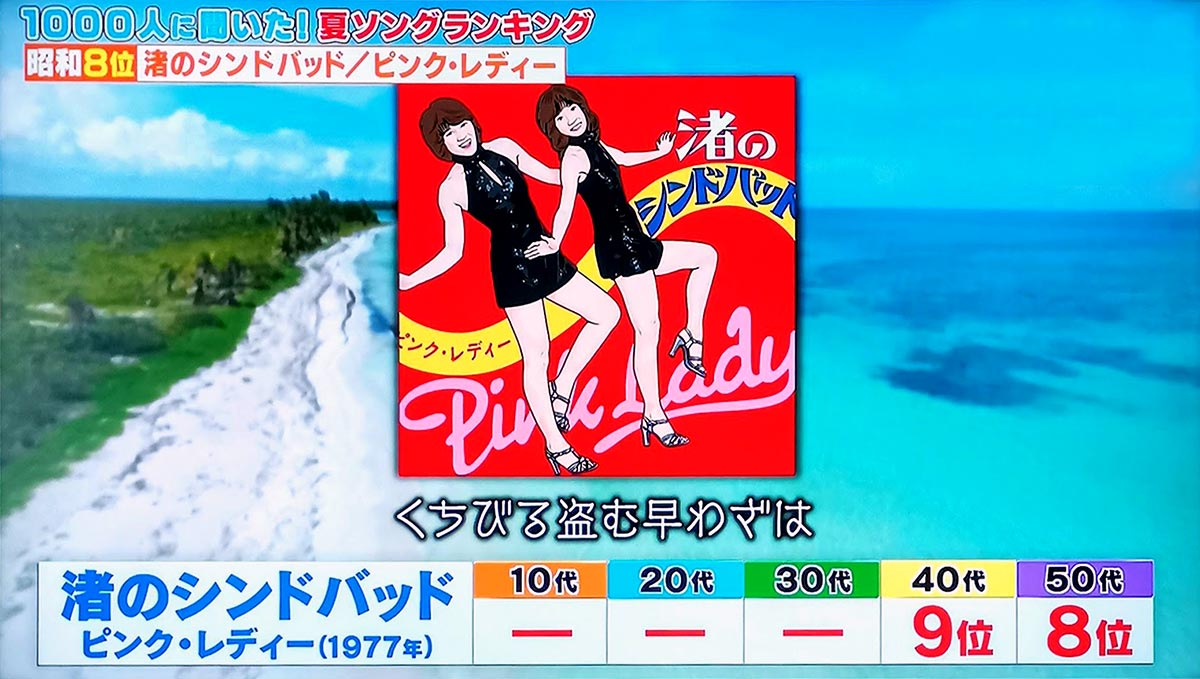 第8位:渚のシンドバッド(ピンク・レディー)