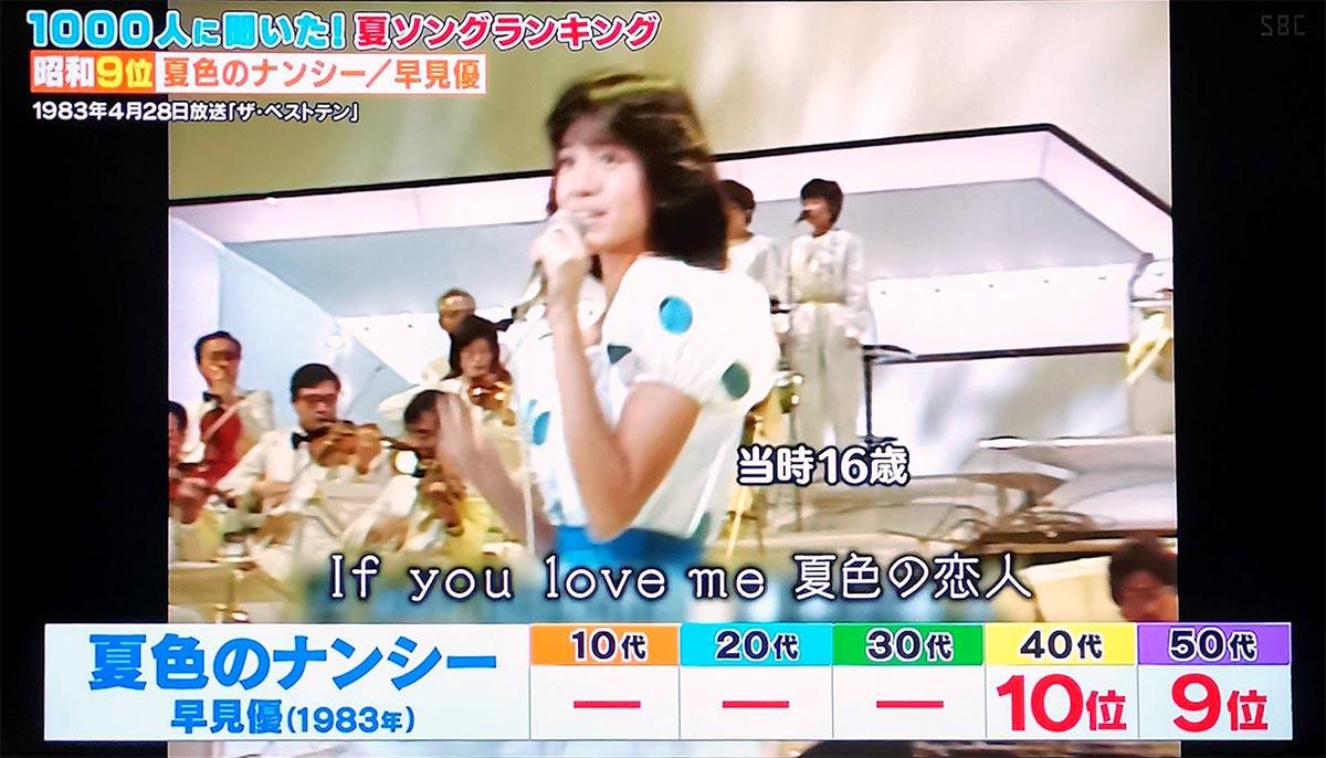 第9位:夏色のナンシー(早見優)