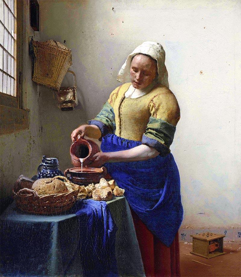 ヨハネス・フェルメール牛乳を注ぐ女