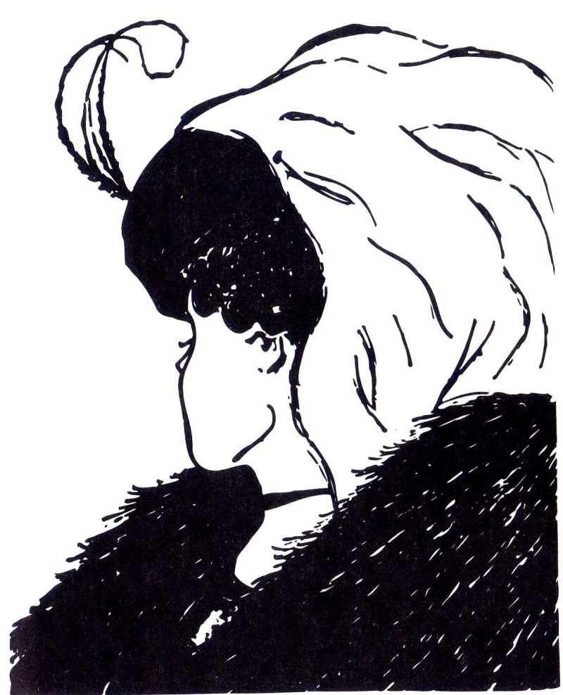 老婆か若い女性に見える有名なだまし絵