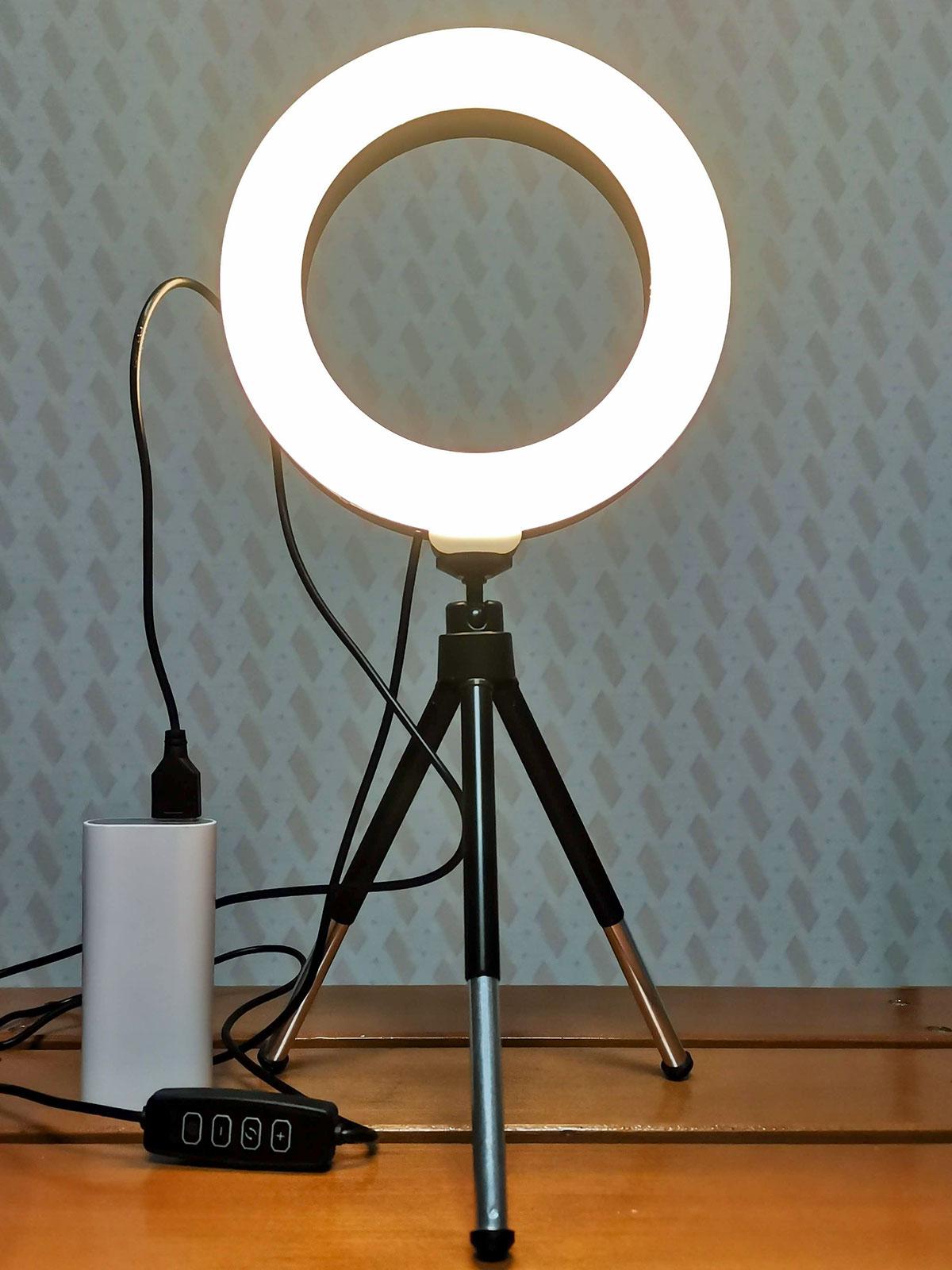 「LEDリングライト30」電球色