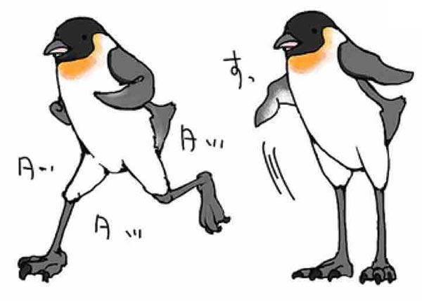 ペンギン本気を出す