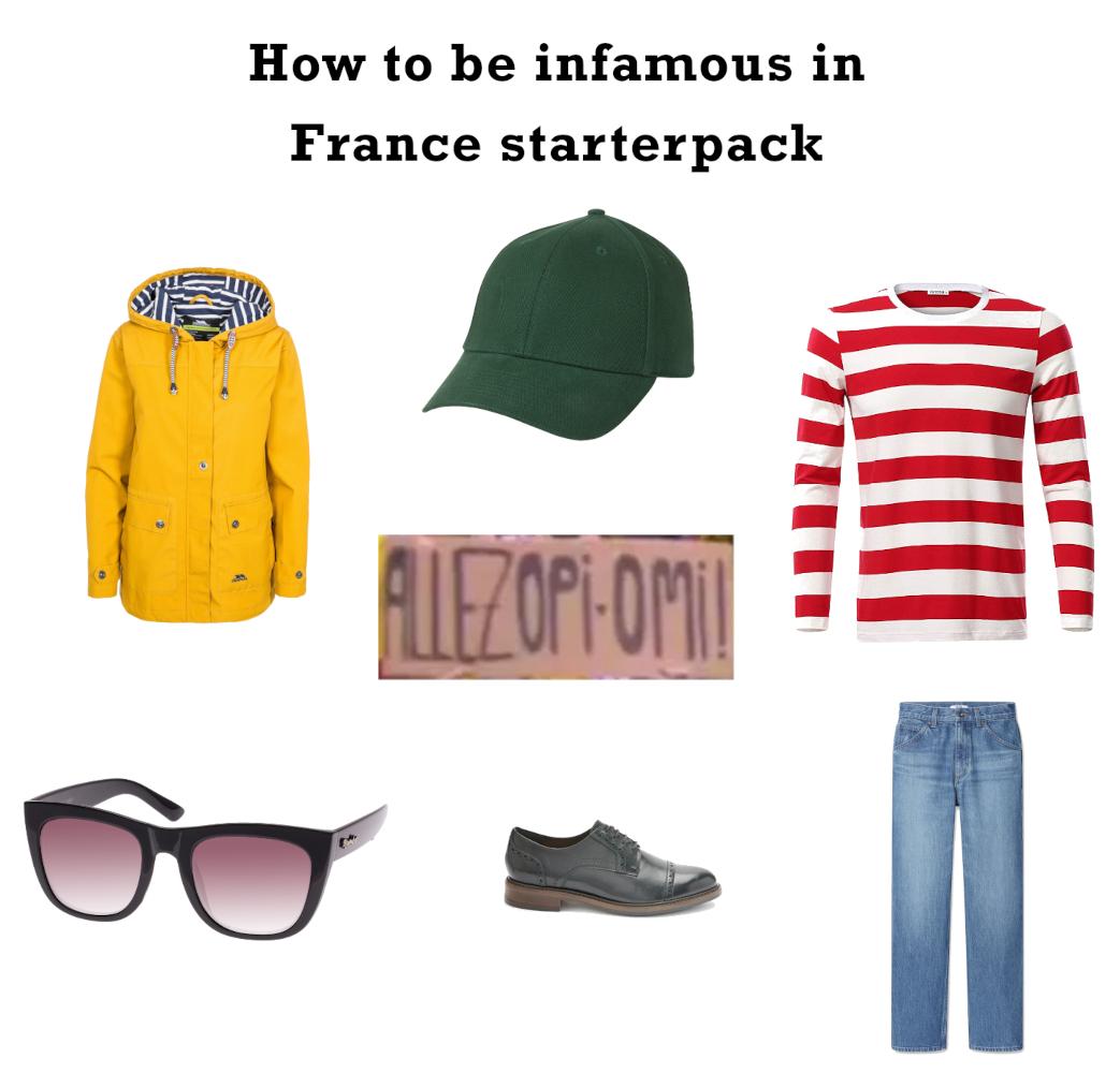 フランスで悪名を馳せるためのスターターパック