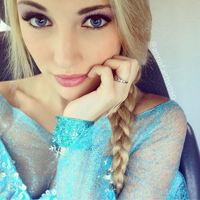 【アナと雪の女王】エルサにそっくりアンナ・フェイス(Anna Faith)