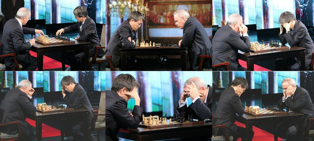 カスパロフ氏 vs 羽生名人@チェス対局