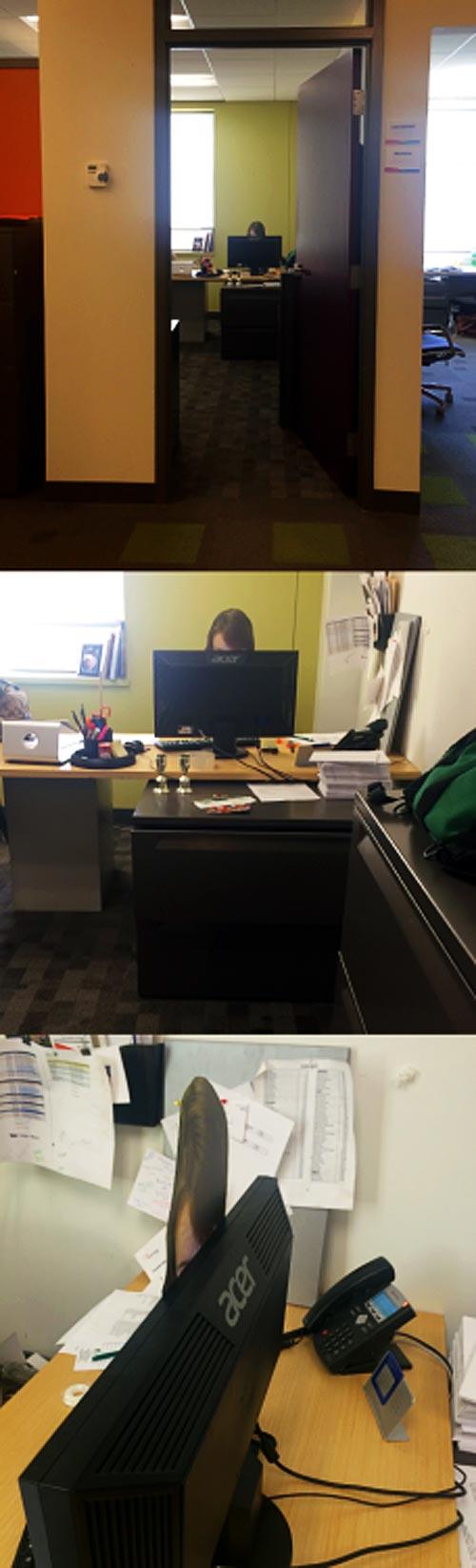 熱心に仕事してる人がいる(ように見える)オフィス