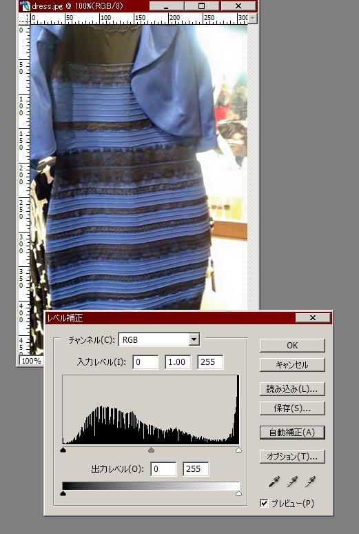 話題の「青と黒のドレス」