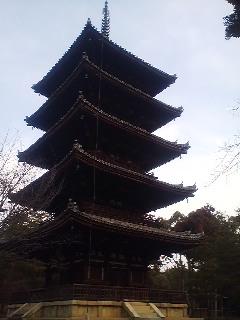 五重塔。in仁和寺
