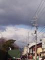 大徳寺東門前の道。何を目的で撮ったのか謎。多分空