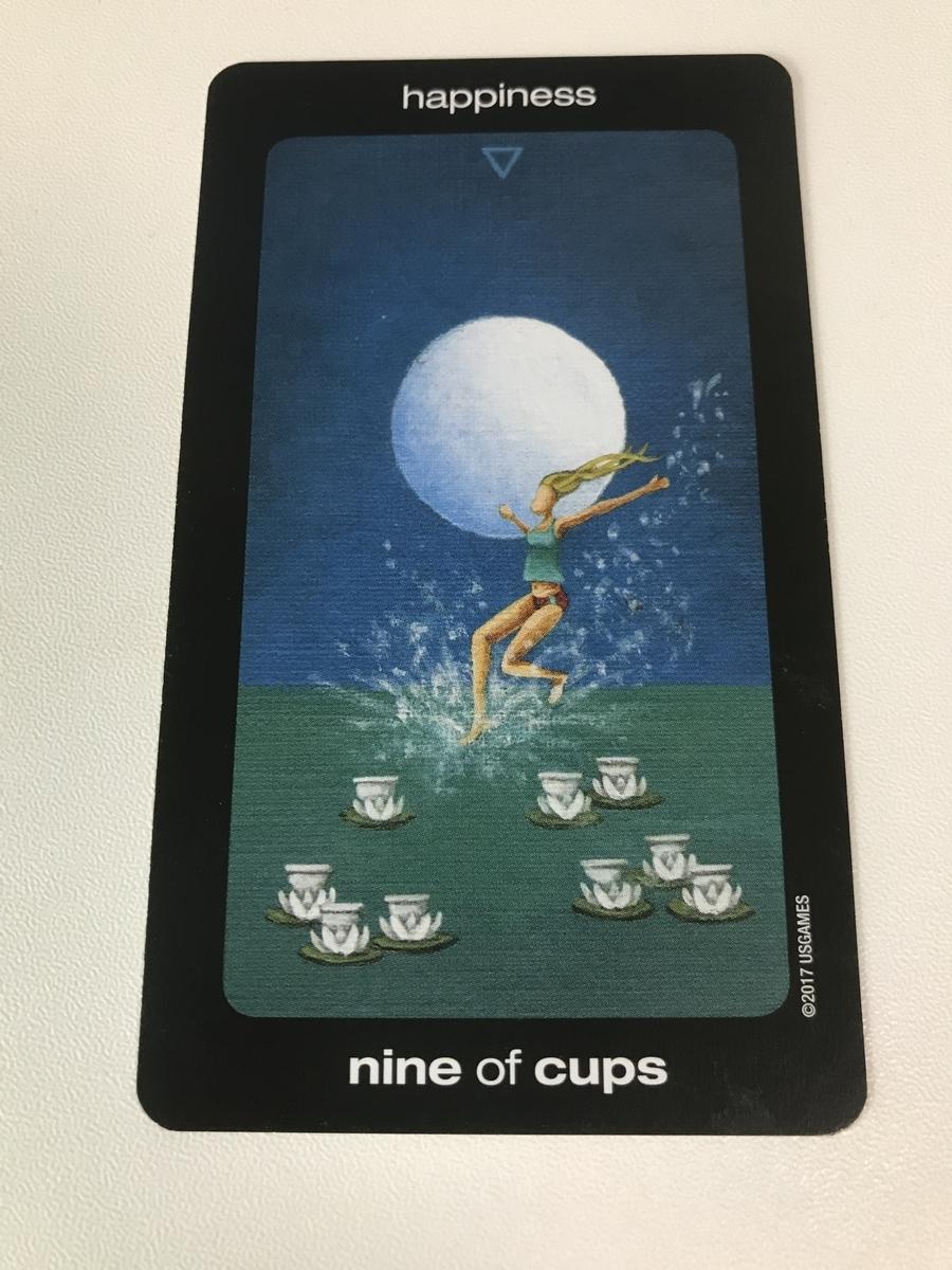 sun and moon tarot : nine of cups - happiness