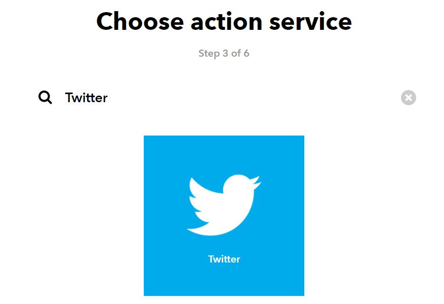 IFTTT Twitter