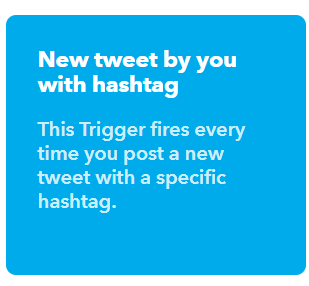 New tweet by you with hashtag