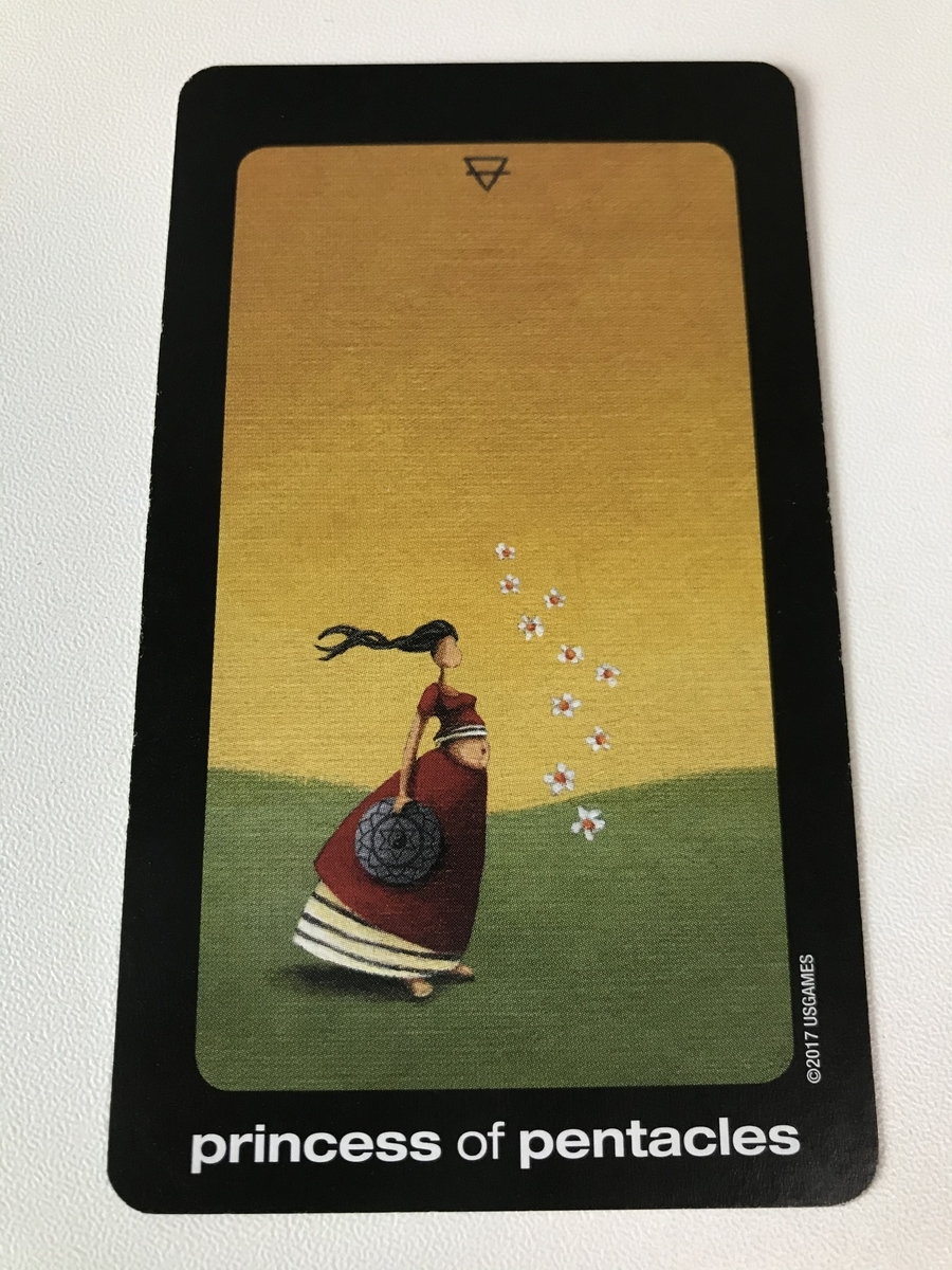 sun and moon tarot : princess of pentacles