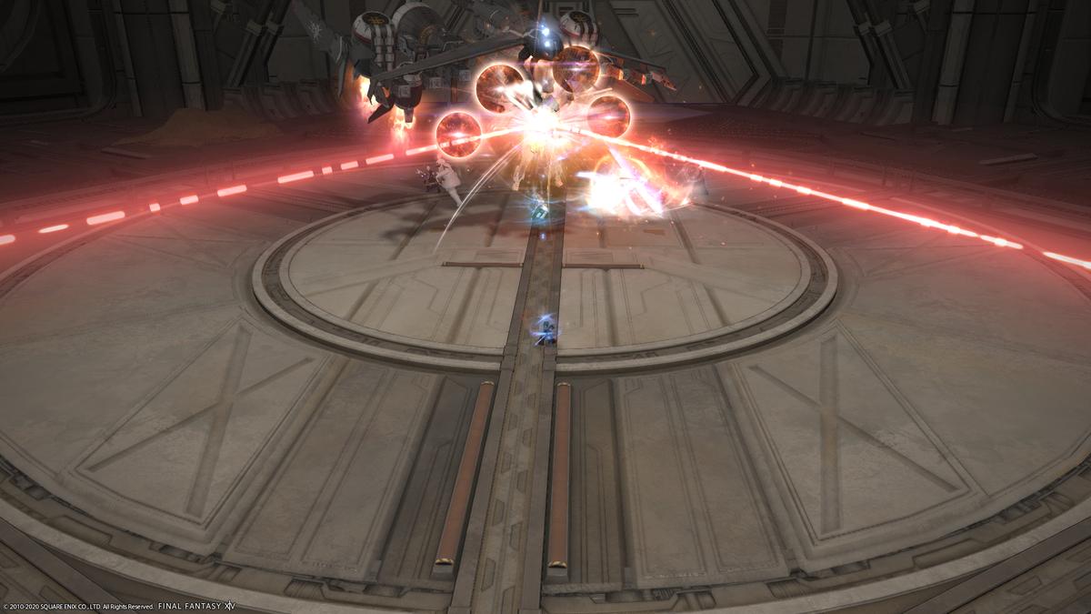 人形タチノ軍事基地2ボス 転回斬撃の安置 タンク視点 剣が外側