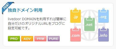 ライブドアブログは独自ドメインが設置できる