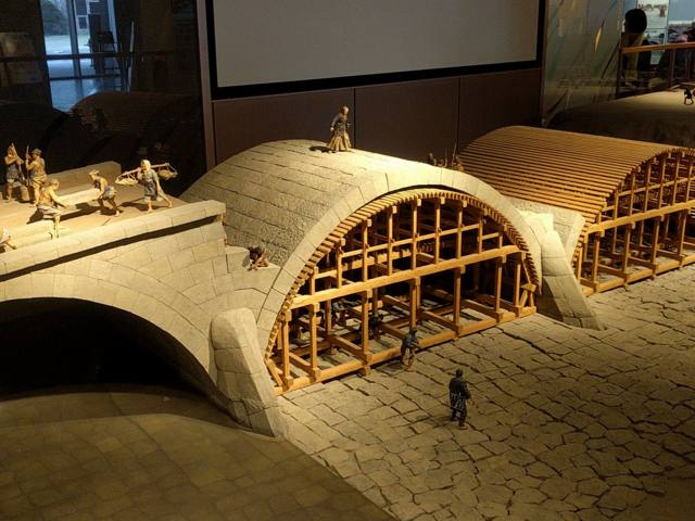 石橋記念公園の石工たち