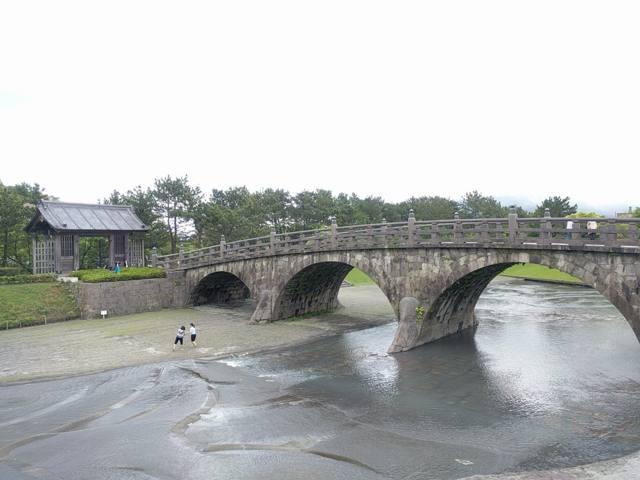 西郷どんで撮影場所となる西田橋の写真