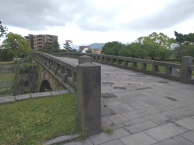 西郷どんで撮影場所となる石橋記念公園の高麗橋