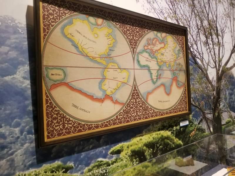 赤山靱負(沢村一樹)が広げた世界地図