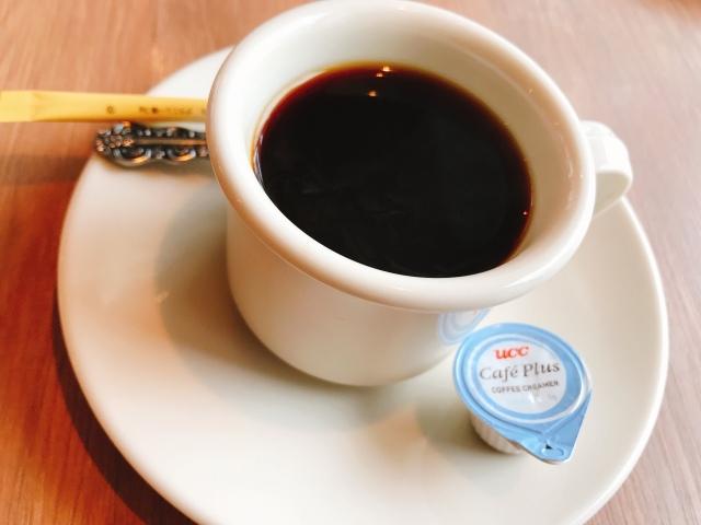 最後に食後のコーヒー