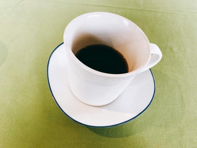 食後のコーヒーまで堪能