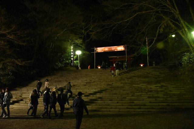 九面太鼓の奉納のあと、みなさんその足で霧島神宮への初詣に向かわれました