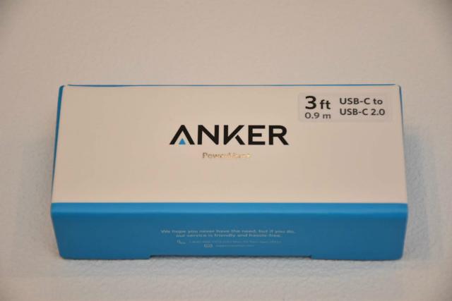 0.9m Anker PowerLine+ USB-C & USB-C 2.0 ケーブル