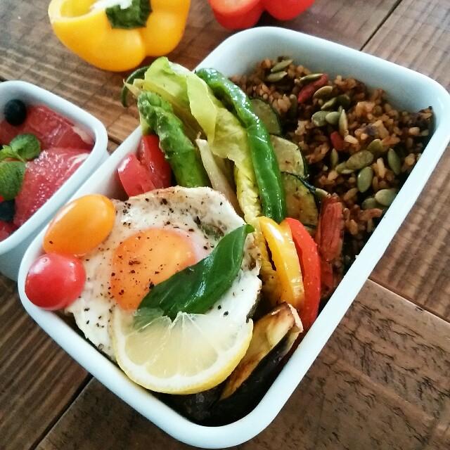 簡単食べやすいグレープフルーツの切り方 ドライカレー弁当