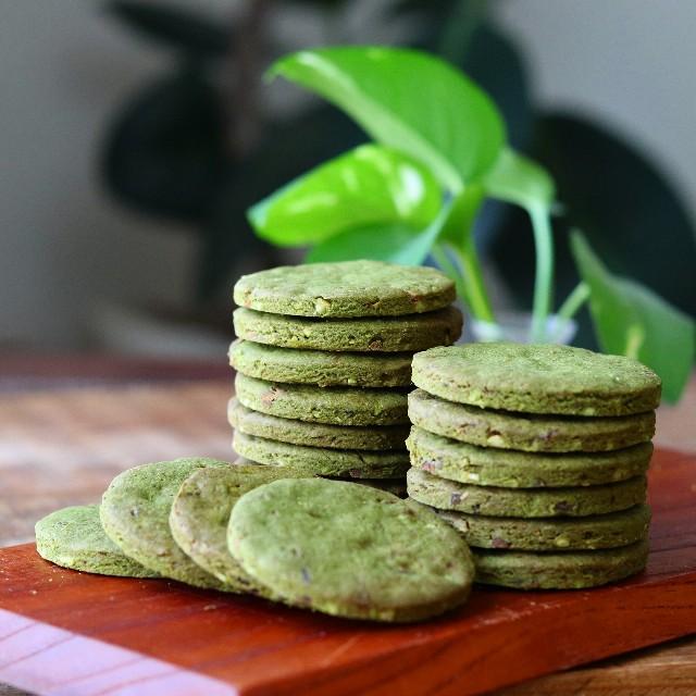 gemomogeの抹茶と甘納豆のクッキー1