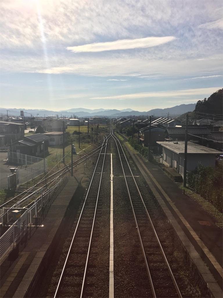 峰山駅待合からの風景