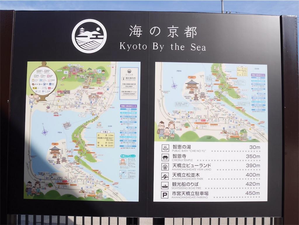 海の京都案内板
