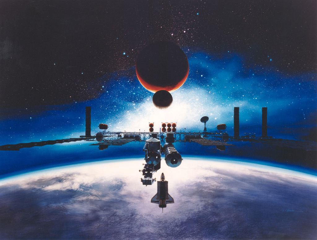 SFの世界のような宇宙船画像