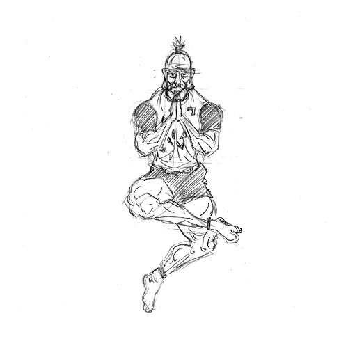 初期ドラゴンボール的アイザック=ネテロ(会長)、あるいは亀仙人とのフュージョン。