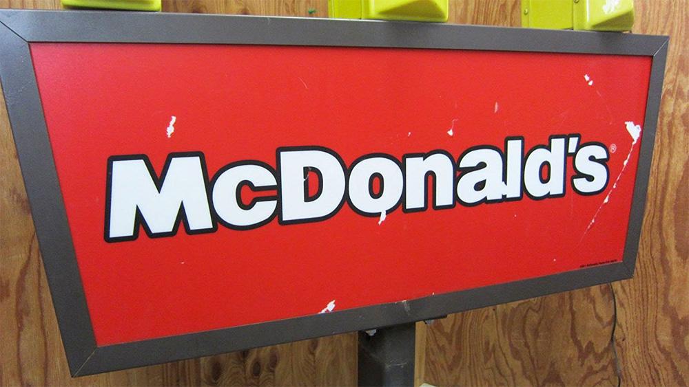 マクドナルドのドライブスルーサイン