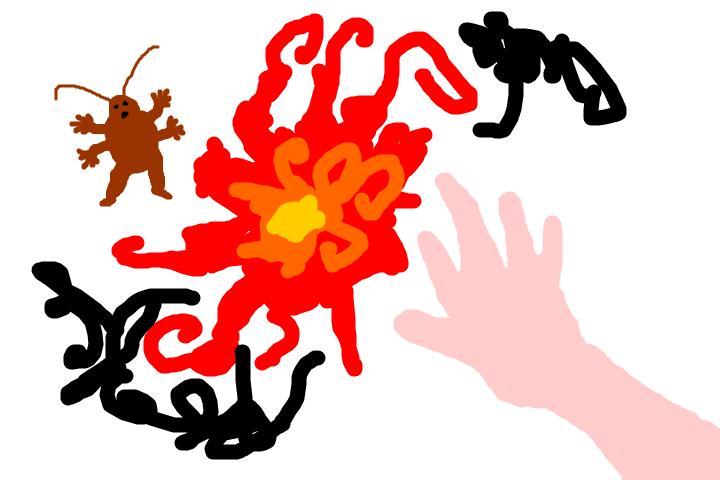 ゴキブリにメラゾーマをとなえたら、焼け死んで7ゴールド落とした日記。