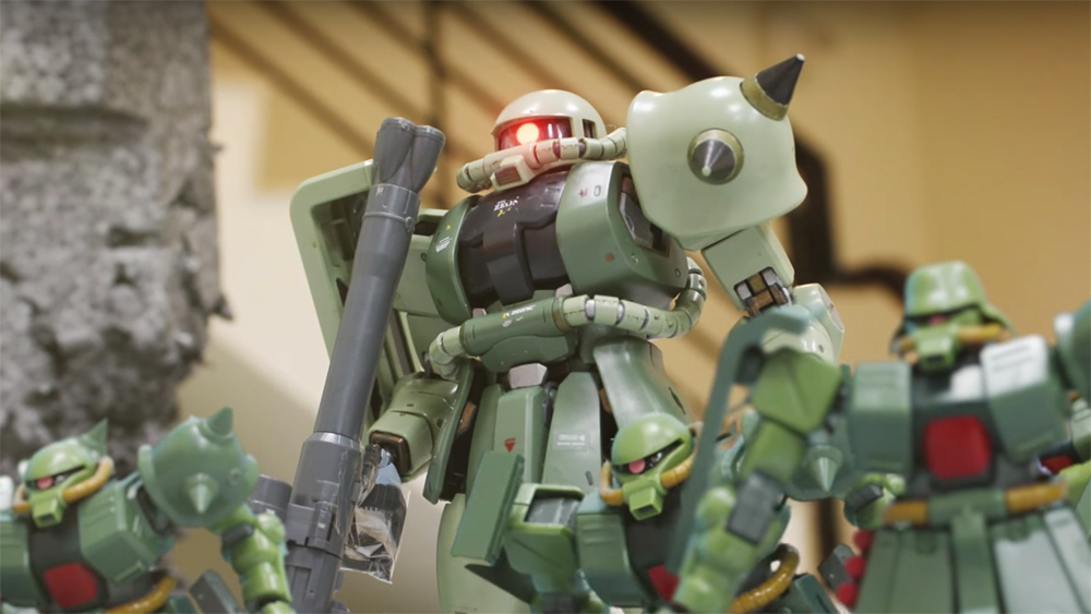 乐聚Aelos ROBOT Stop motion - Zaku's Army fight