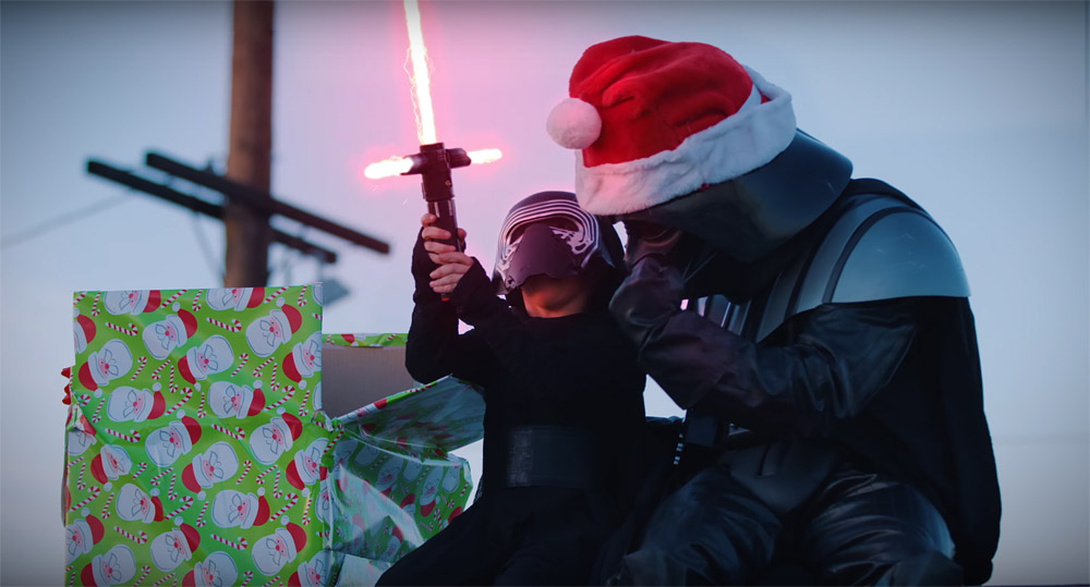 Darth Santa STRIKES BACK!