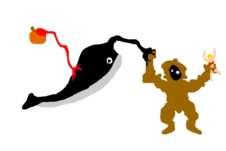 林檎と鯨と、キングコングの話。