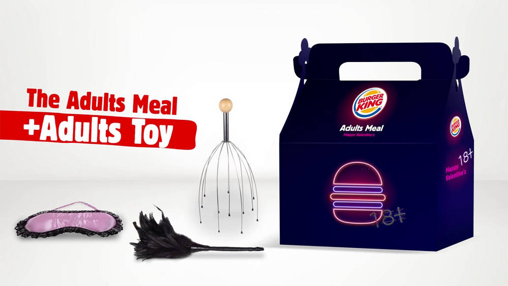 Burger king- valentines adult meal