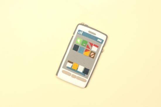 クレイアートのスマートフォン