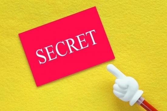 SECRET秘密を書いたパネル