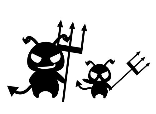 ウイルスのアニメ風イラスト