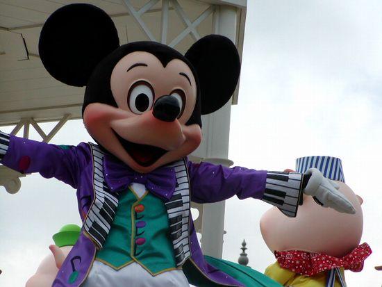 ミッキーマウスのアップ