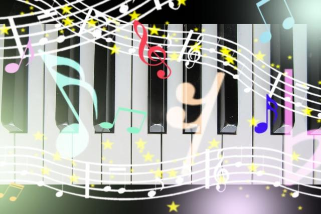 音符とピアノ