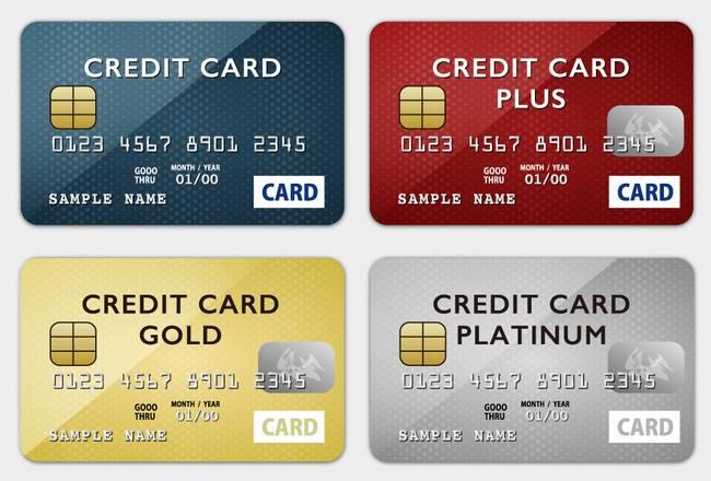 クレジットカード4種画像
