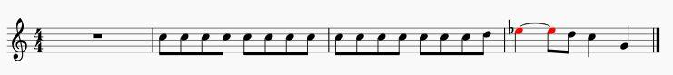クラリネット短調主旋律