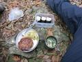 山で手作りハンバーグ