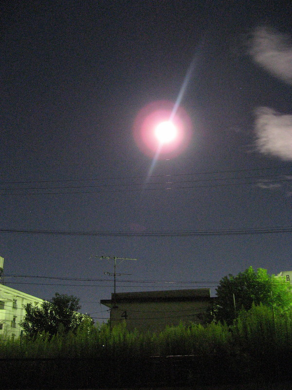 月がとってもきれいだった