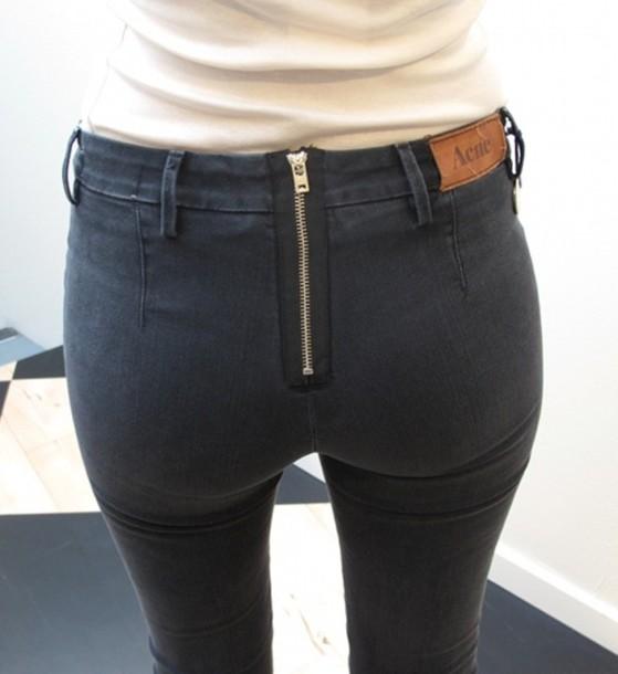 women jeans zipper