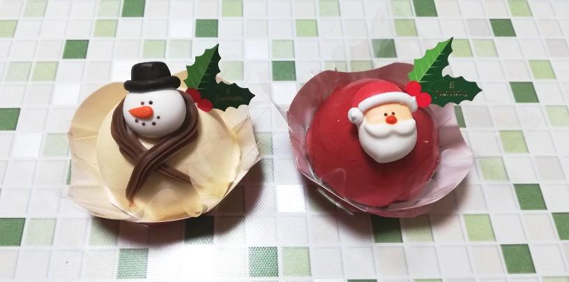 サンタとスノーマンのクリスマスケーキ(ムース)